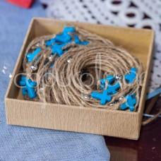 Μαρτυρικά με σχοινί και γαλάζιο σταυρό