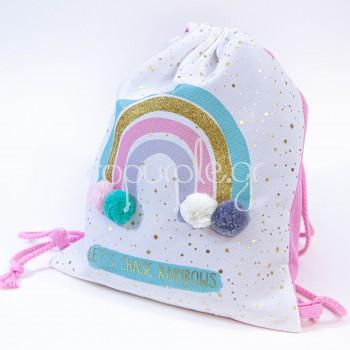Μπομπονιέρα Backpack ουράνιο τόξο
